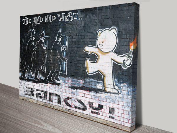 Mild Mild West Banksy Wall Art Print