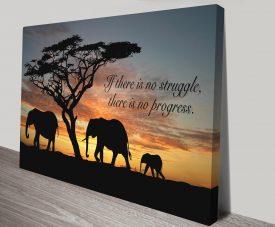 No Struggle Canvas Print Australia