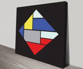 Retro Geometric 18 Wall Art Print