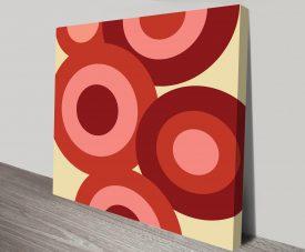 Retro Geometric 6 Artwork on Canvas