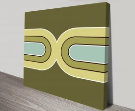 Retro Geometric Art 1 Canvas Print Art