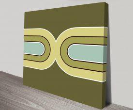 Retro Geometric Art 1 Canvas Print Art