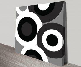 Retro Geometric Art 15 Canvas Print