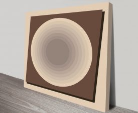Retro Geometric Art 24 Canvas Prints Australia