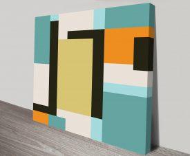 Retro Geometric Art 27 Wall Canvas Prints