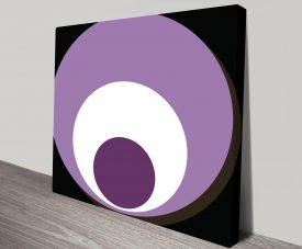 Retro Geometric Art 8 Canvas Prints