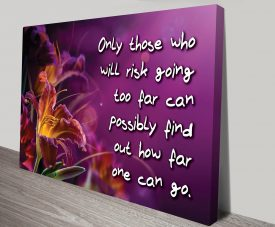 Risk Far Motivational Canvas Art