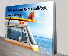 Roadblock Inspirational Canvas Art Australia
