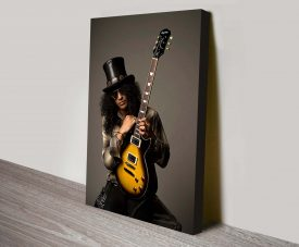 Buy a Slash from Guns 'N' Roses Canvas Print
