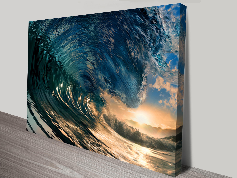 Surfing canvas art