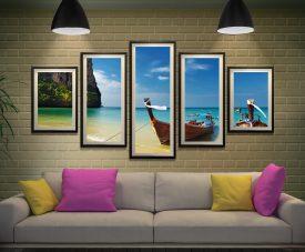 Thai Paradise Framed Split Panel Wall Art