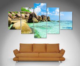 Tropical Paradise 5 panel canvas