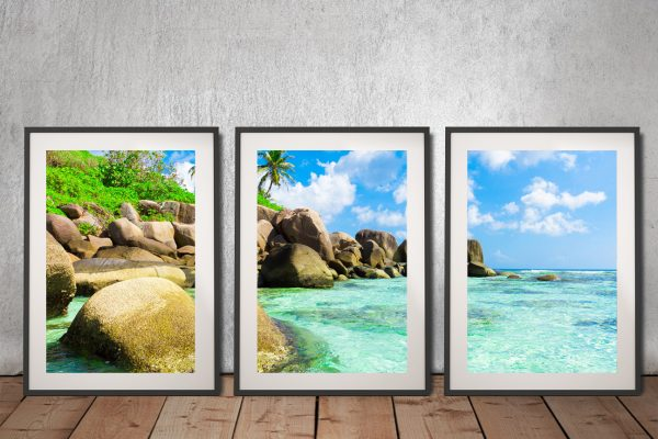 Buy Tropical Paradise Triptych Art Cheap Online