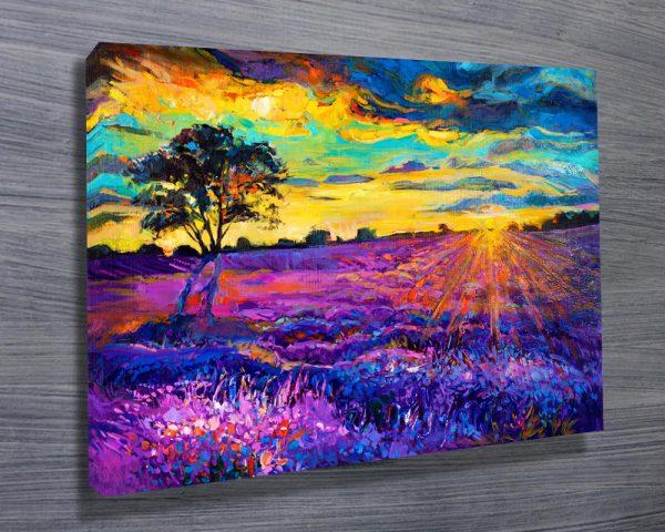 Abstract Purple Landscape Canvas Print