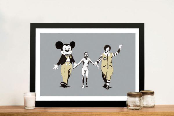 Buy Napalm Mickey a Striking Banksy Canvas Print