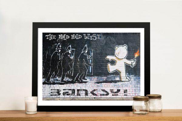 Banksy Mild mild west Framed Wall Art