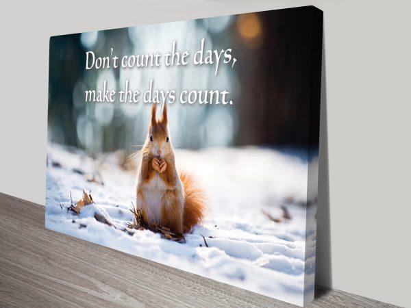 Count The Days Canvas Print Australia