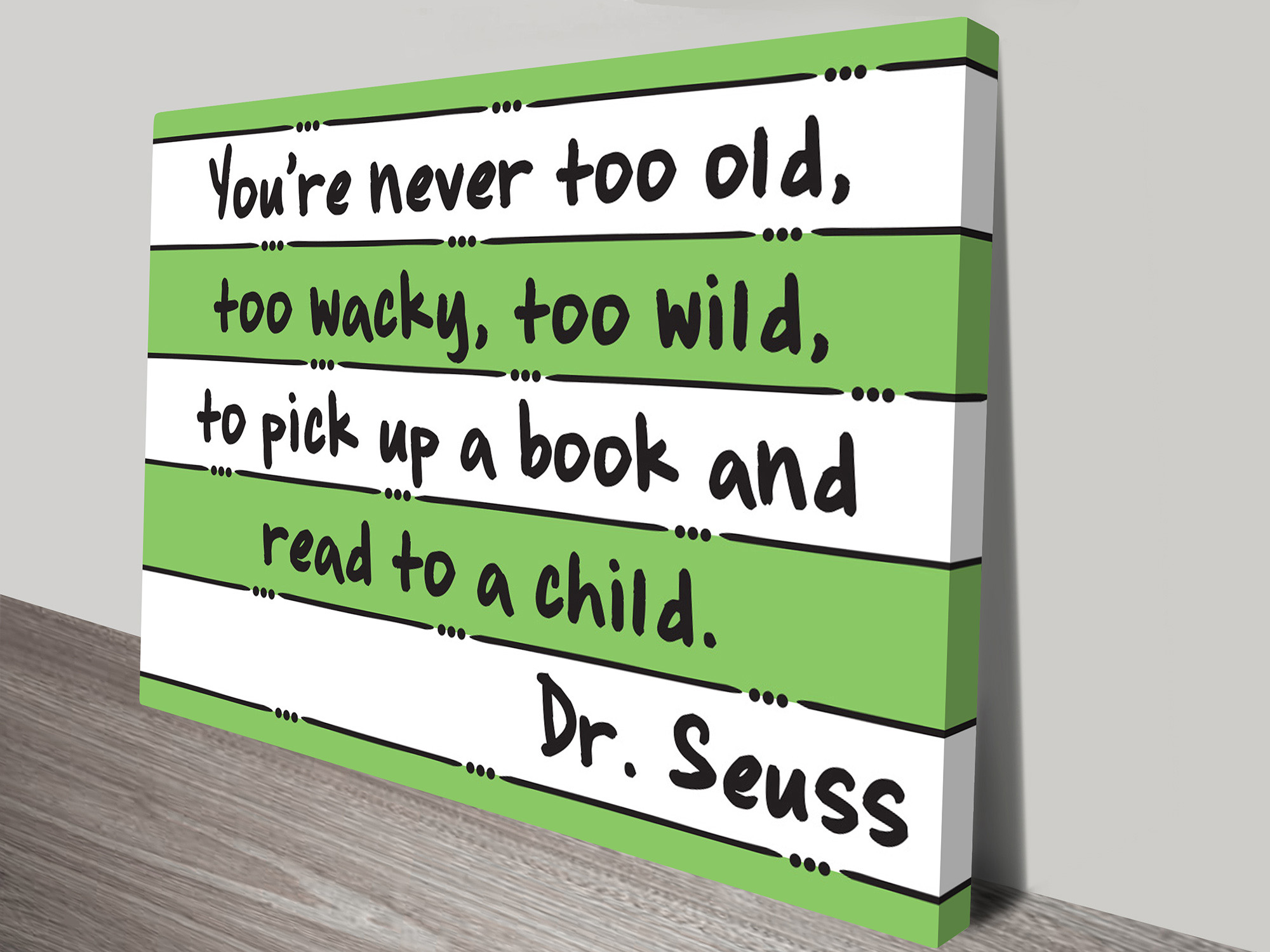 dr seuss read artwork on canvas. Black Bedroom Furniture Sets. Home Design Ideas