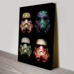 4 Stormtrooper Helmet Pop Art