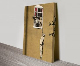 Banksy Lovers Canvas Wall Art Print
