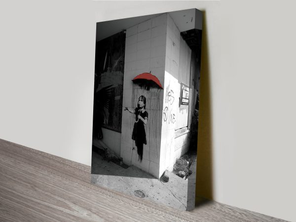 Banksy Raingirl Canvas Wall Art Print