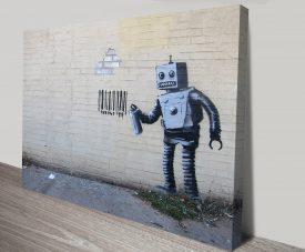 Banksy Robot Canvas Print Australia