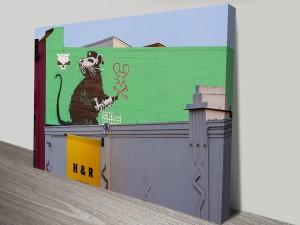 Banksy Soviet Rat Wall Art Print Sydney