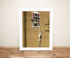 Buy a Banksy Lovers Canvas Wall Art Print