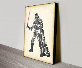 Darth Vader Typographic
