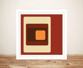 Retro Geometric Framed Wall Art