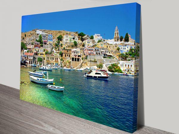 Greece Coast View Wall Art Print