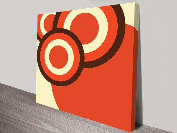 Retro Geometric 30 Artwork on Canvas Australia