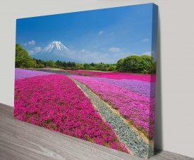 Shibazakura Flowers Fuji Floral Wall Art Print