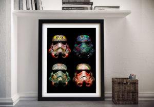Star Wars Helmet poster Framed Wall Art