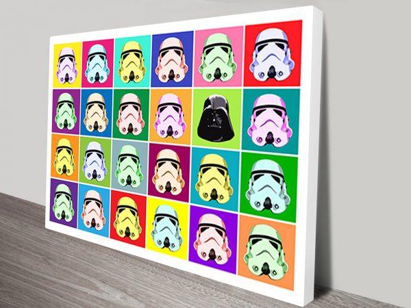 Star Wars Popart Canvas Print