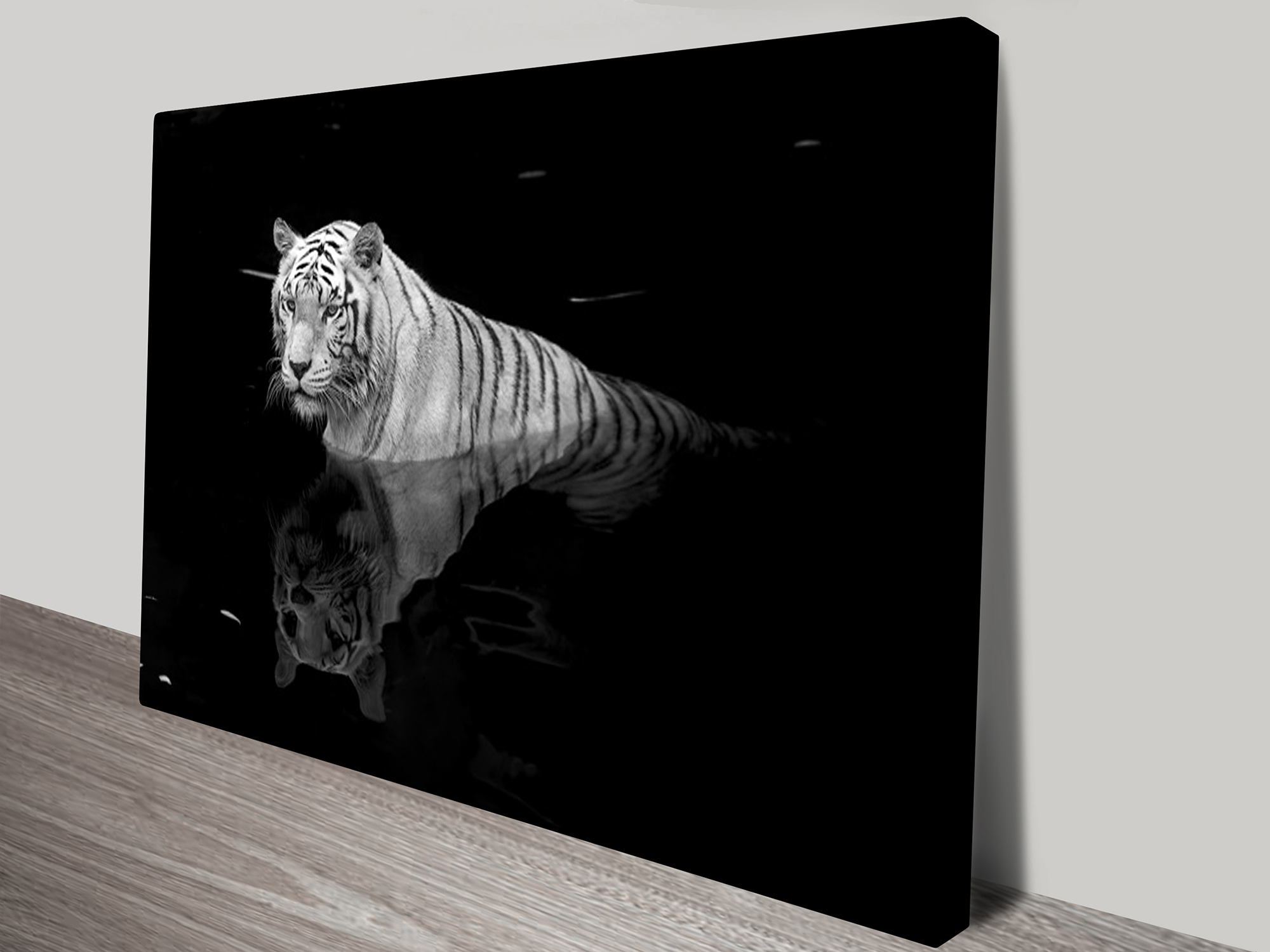 tiger black and white canvas wall art print canvas. Black Bedroom Furniture Sets. Home Design Ideas