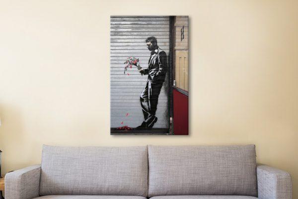 Waiting in Vain Banksy Art Home Decor Ideas AU