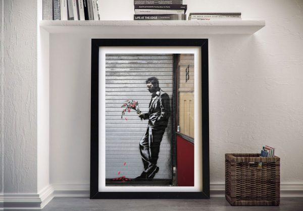 Waiting in Vain Framed Banksy Wall Art Online