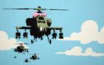 Happy Copters Banksy Canvas Prints Au