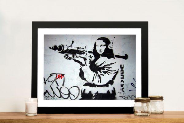 mona bazooka banksy Framed Wall Art