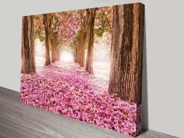 Path of flowers Art Canvas Print Australia