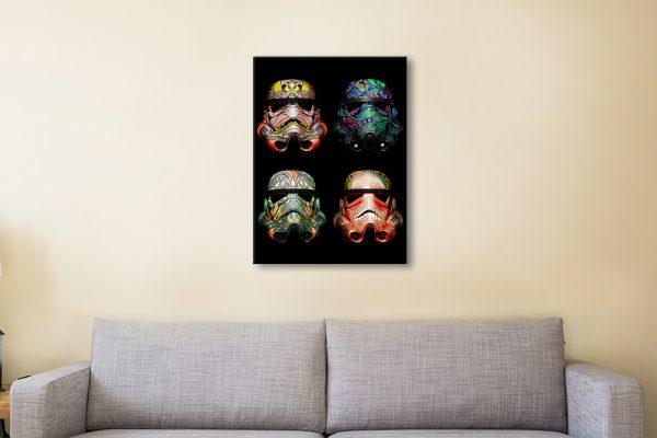 4 Stormtrooper Helmet Pop Art Wall Picture