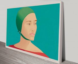 Alex Katz The Green Cap Canvas Wall Pop Art