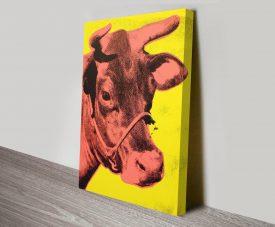 Andy Warhol Cow Canvas Art Print