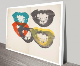 Andy Warhol Lips Artwork on Canvas