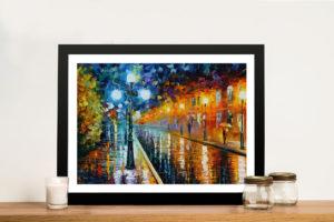 Blue Lights Leonid Afremov Framed Art Prints