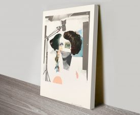 Fashion Plate Richard Hamilton Artwork on Canvas