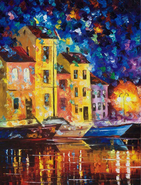 Night City Leonid Afremov Wall Art Print Australia