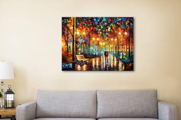 Buy Rain Rustle Leonid Afremov Canvas Art Print Australia