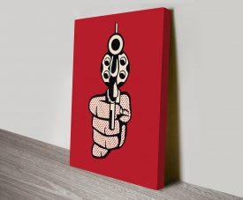 Roy Lichtenstein Pop Art Pistol Canvas Print
